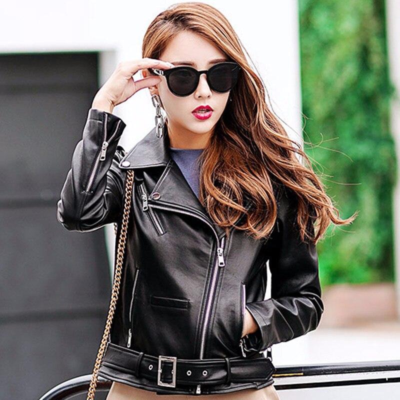 Mode Automne En Brodé Fermeture Conception Manteaux Black Éclair Veste Moto Noir Slim Femmes Vintage Pu Nouveau Courte Cuir EwvdzqwO