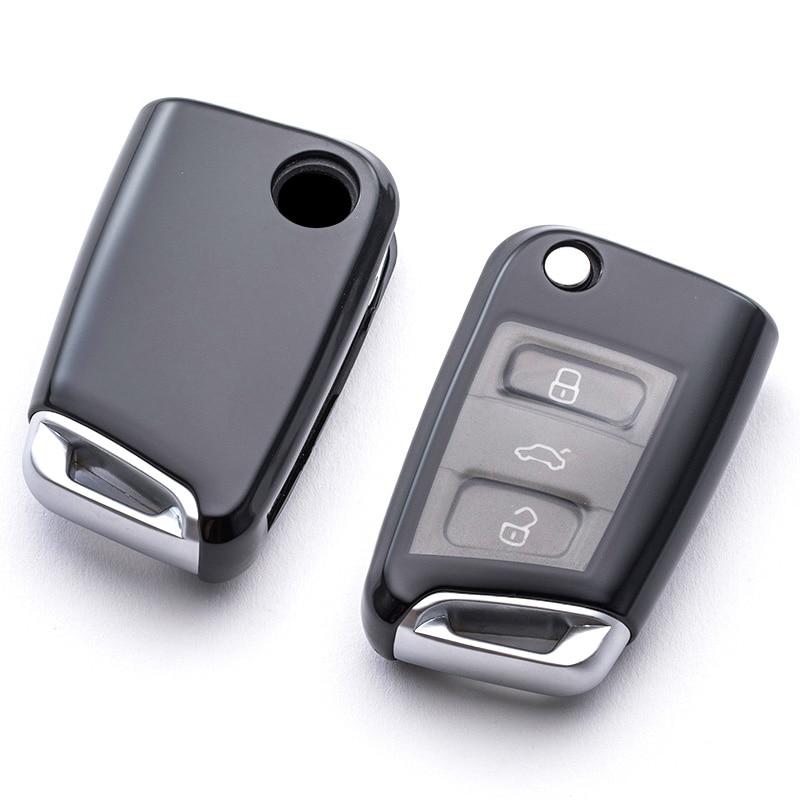 New Soft Tpu Car Key Cover Case For Vw Volkswagen Golf 7 Mk7 Skoda