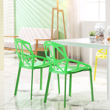 Modern Minimalist Plastic Chair Nordic Fashion Furniture Dining Table Geometric Hollow Outdoor Negotiating Leisure