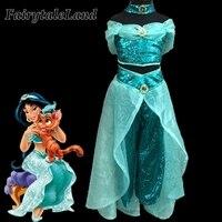 Girls Jasmine Costume Kids Halloween Costumes Belly Dance Clothing Aladdin And The Magic Lamp Princess Jasmine