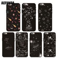 Meteor Alien Outer Space TPU Case for iPhone 5S 5 SE 6 6S 7 8 Plus Slim Silicone Stick Figure UFO Moon X XS Max XR Case Coque(China)