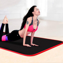 183*60*10mm Non-slip Yoga Mat With Position Line Non Slip Carpet Mat For Beginner Environmental Fitness Gymnastics Mats 10mm extended nbr yoga mat widened yoga with position line non slip carpet mat for beginner environmental fitness gymnastics mat