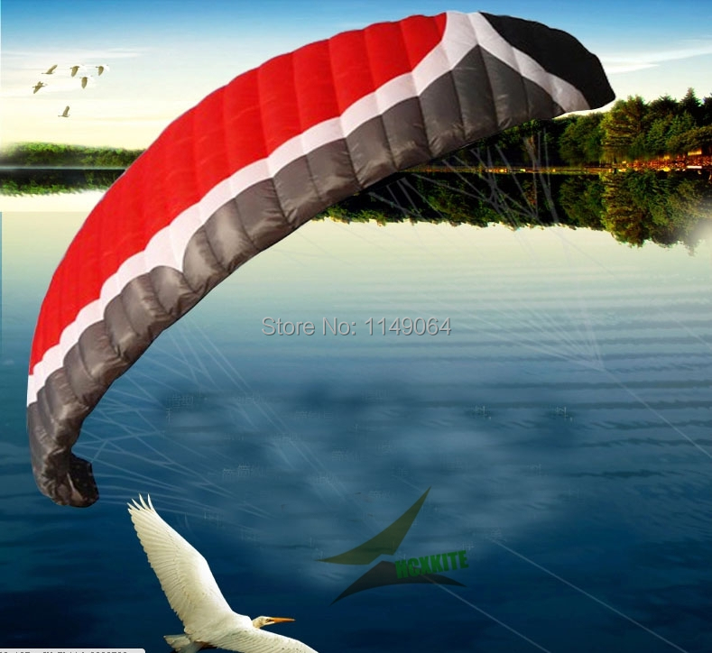 free shipping high quality N7 7square meters quad line power kite surf pipas esportiva kite winder beach a parachute kite eagle