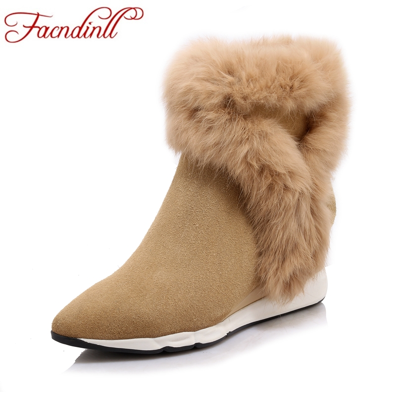 FACNDINLL new 2017 autumn winter women ankle boots wedges high heels pointed toe platform shoes woman casual short riding boots facndinll women ankle boots new fashion autumn winter genuine leather high heels lace up shoes woman dress party short boots