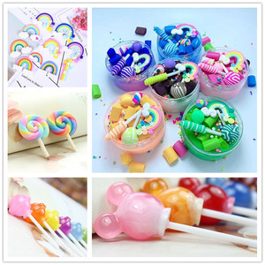 5pcs/lot Lollipop for Slime Clay Crystal Glue DIY Handmade Craft Decoration Toy For Kids Gift Toy Hot sale