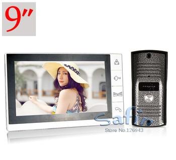 DP-998 9inch color video door phone 700tvl hd camera intercom system two way talk door bell