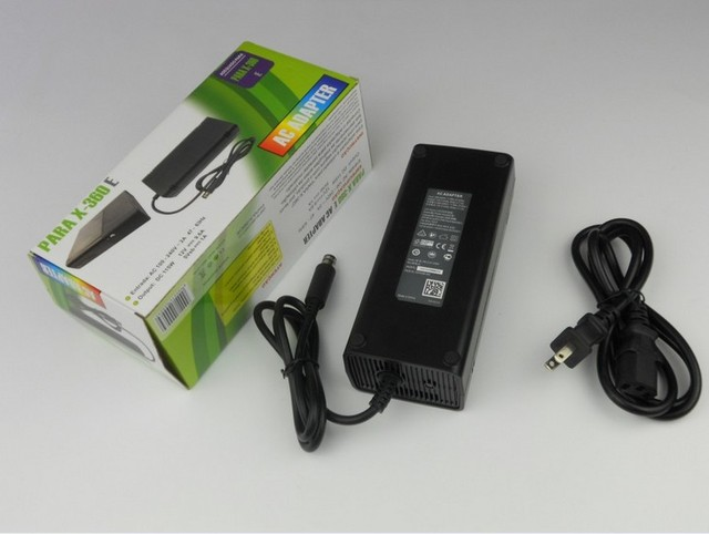 AC 100~240V to 12V Power Adapter Transformer Set Game Console Charger for Xbox 360 E - Black