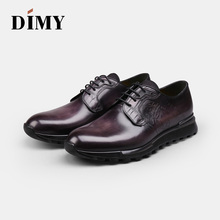 Dimy hand-made a pedal lazy shoes summer mens leather breathable casual Brock England wind
