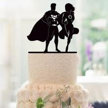 Personalized Wedding Cake Topper Bride and Groom Custom Super Hero Cake Topper Monogram Anniversary Cake Topper Wedding Decor
