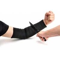 1 paire de coupe supérieure en plein air auto-défense bras garde contre verre couteau coupe gant manchette coupe-résistant de protection sécurité manches