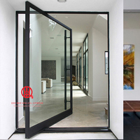 Modern Aluminum Pivot Door Systems, 6' wide x 8' high Aluminum Pivot Entrance Door
