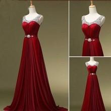 Лидер продаж года элегантные длинные красивые формальных мать невесты платье кафтан красное Вино Фиолетовый Зеленый бисером Вечерние платья Плюс Размеры
