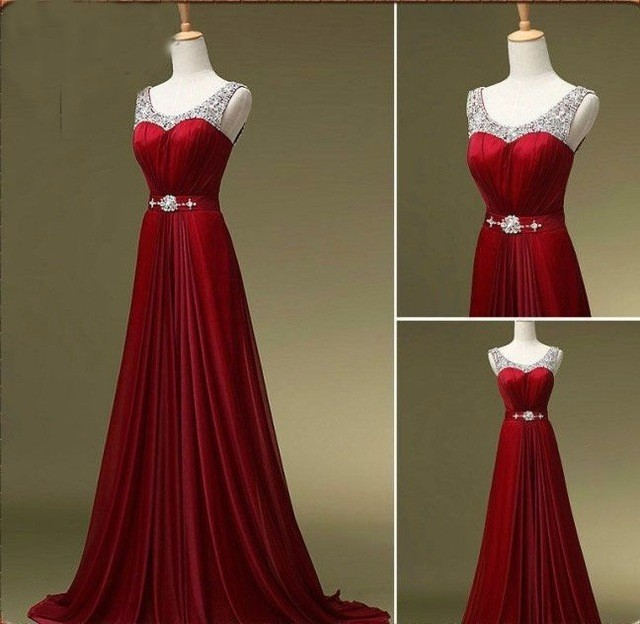 2017 Hot Elegant Long Beautiful Formal Mother Of The Bride Dresse Kaftan Red Wine Purple Green Beaded Evening Dresses Plus Size