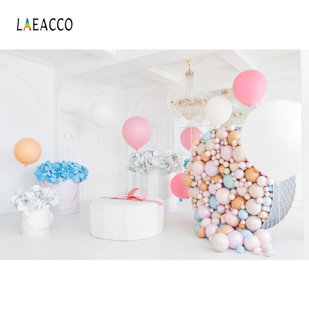 Laeacco colorate baloane flori copil nou-născuți de fotografie - Camera și fotografia - Fotografie 1