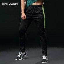 BINTUOSHI Mens Running Pants With Zipper Pocket Training Trousers Sport Wear Sports Long Fitness Legging Gym