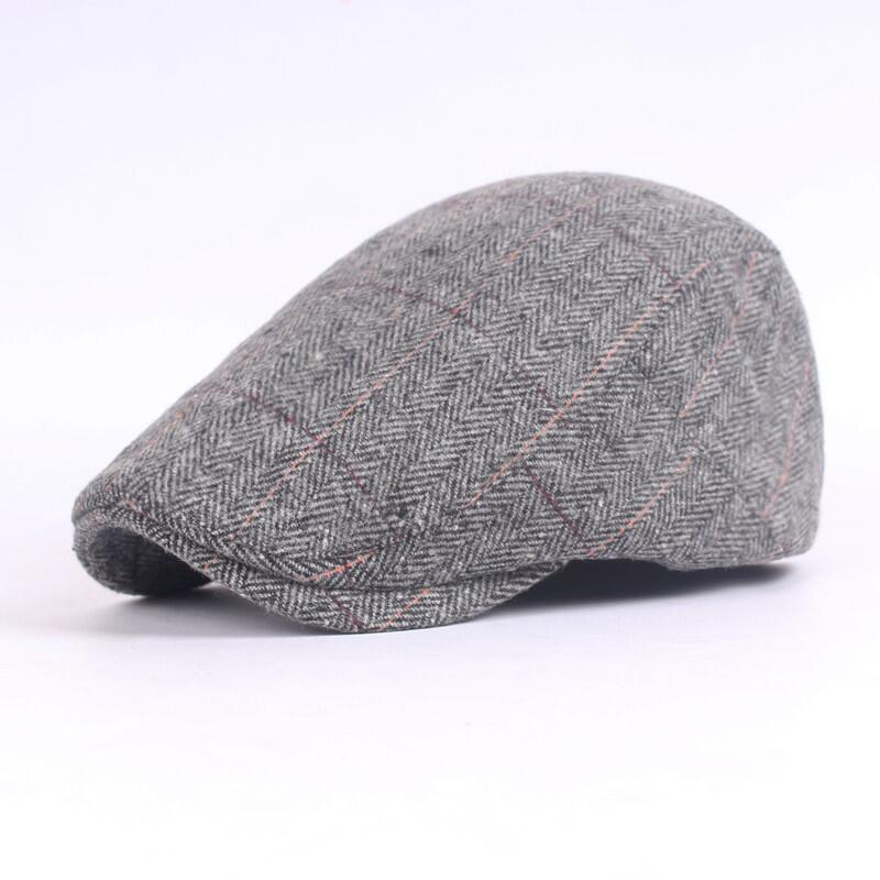 31c9b5eb106 Men Berets Herringbone Gatsby Tweed Cap Newsboy Male Beret Peaky Blinders  Hat Spring Women Flat Beret Hats-in Berets from Apparel Accessories on ...
