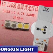 200 шт. светодиодный ЖК-телевизор для LG, задний светильник, бусины для объектива 1 Вт 3 в 3528 2835, холодный белый светильник