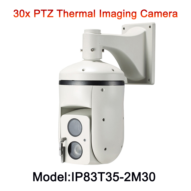 30x Zoom Visible Camera Long Distance PTZ Analog Thermal Imaging Camera for power station forest fire temperature monitoring