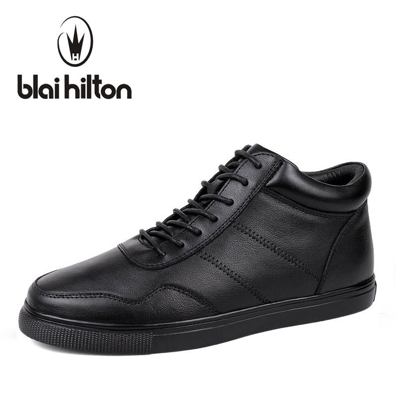 Blaibilton Brand Winter Warm Velvet High Top men casual shoes Luxury Genuine Leather Male Footwear Fashion Designer Mens SD3599 top brand high quality genuine leather casual men shoes cow suede comfortable loafers soft breathable shoes men flats warm