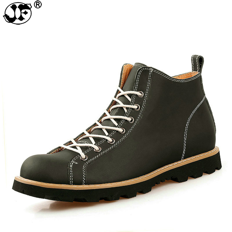 6f33a2b846 D  Outono Homens Boots Confortáveis Brown Prova light Ankle Água Genuíno  Sapatos Dos Botas 886 Couro ...