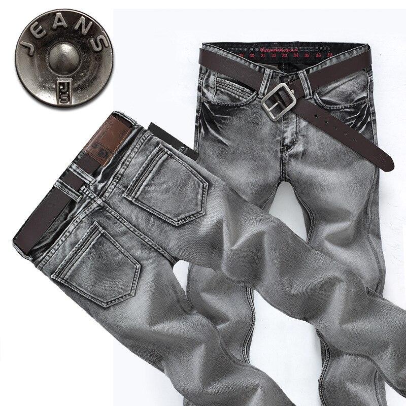 New 2015 Famous Brand Men Jeans Spring Fashion Denim Pants Men Smoke Gray Straight Jeans Casual Denim Trousers Jeans For Men