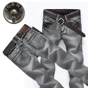 New 2015 famous brand men jeans spring Fashion denim pants men smoke gray straight jeans casual denim trousers jeans for men simwood brand 2016 men s jeans straight fit denim trousers famous brand pants blue casual long pants jeans free shipping sj629