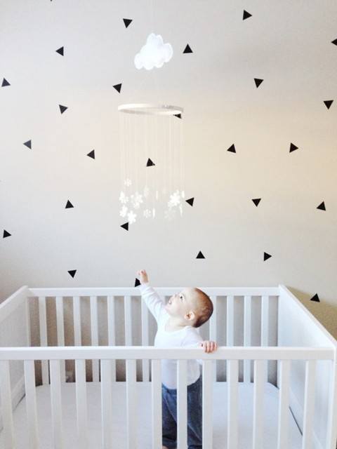 מוצר triangles wall sticker kids aliexpress buy nursery home decals removable wall 72841