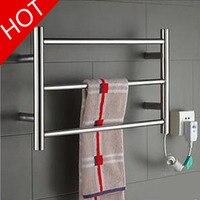 1PC YEK 8022 Hot Sale Heated Towel Rail, Stainless Steel Electric Towel Racks Holder Bathroom Accessories Wall Mounted