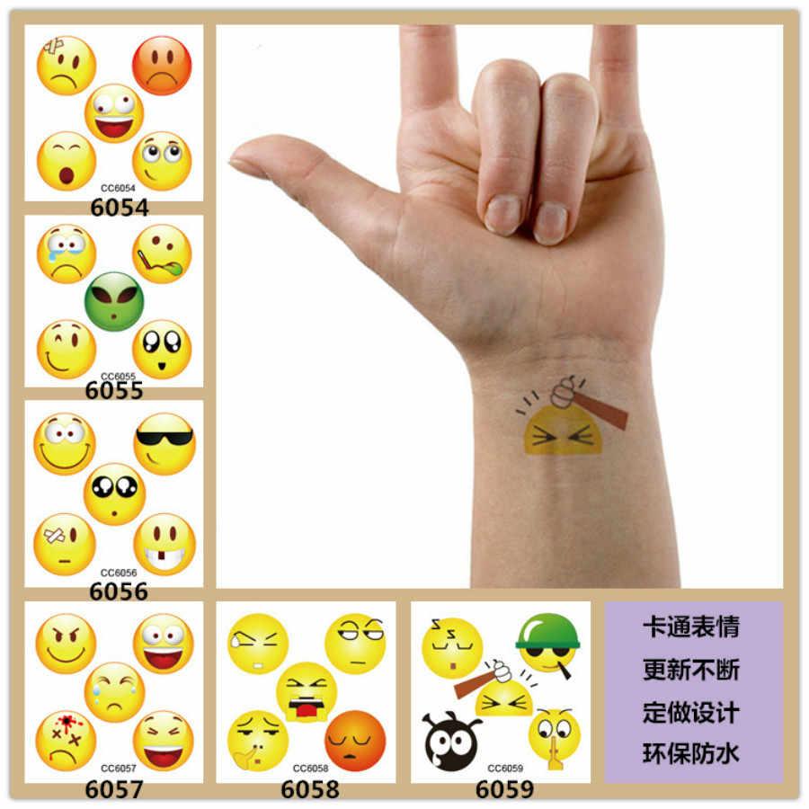 1 шт., зеленая Водонепроницаемая Милая татуировка, наклейки, цвет, QQ, симпатичная индивидуальность, мужская и женская татуировка, наклейки CC