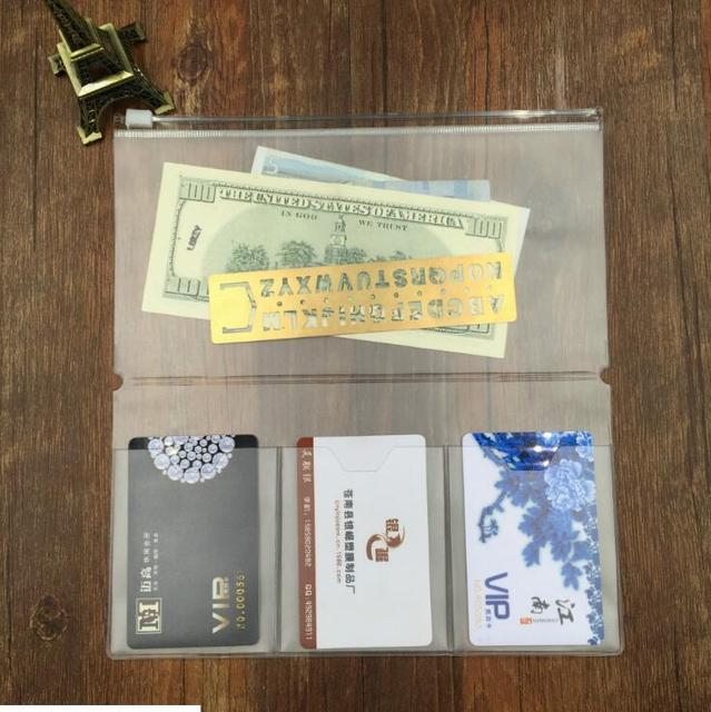 Midori Standard Traveler's Notebook PVC Pocket Zipper Bag Transparent Collection Pocker with Card Holders Plastic Pouches