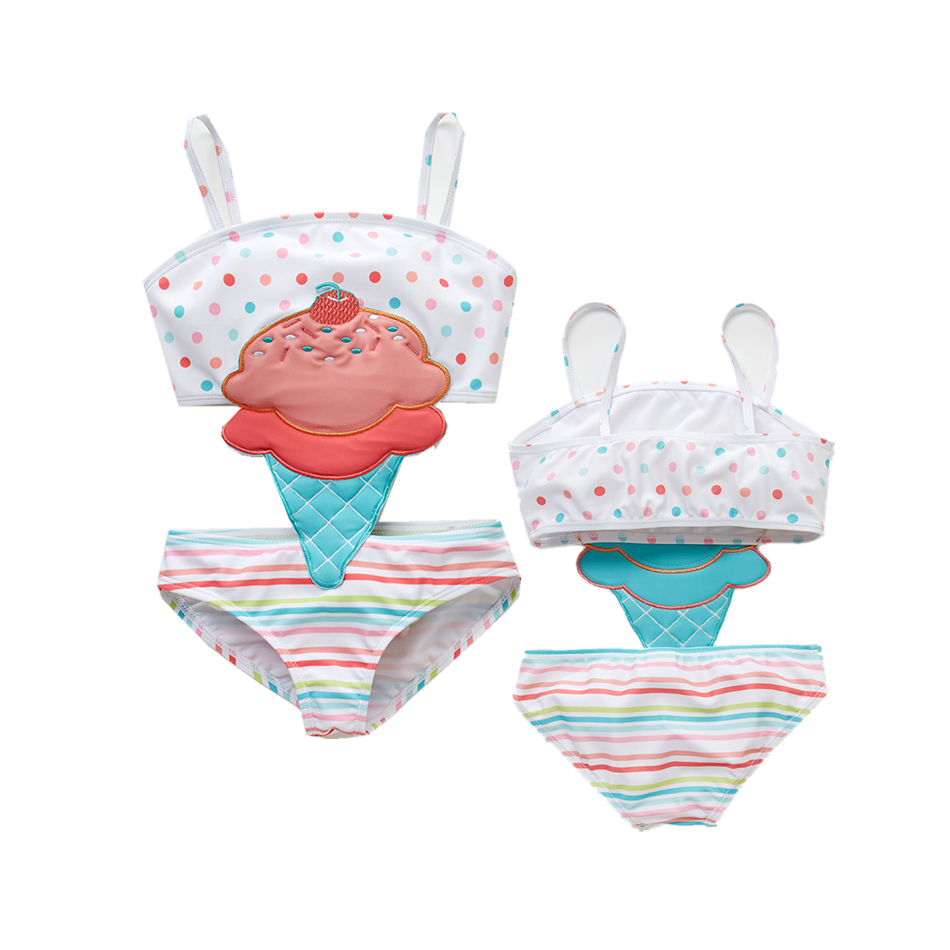 Hot Summer Girl Cute Cartoon Animals Swimwear One Piece 2019 Striped Patchwork Kids Girl Beach Wear Swimsuit 12M-8T Baby Bathing