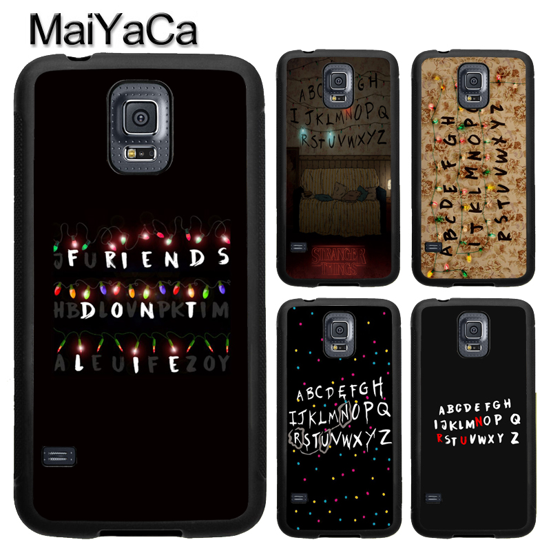 MaiYaCa Stranger Things Fairy Lights Case For Samsung Calaxy S4 S5 S6 S7 Edge Note 8 5 4 TPU Case For Samsung S8 S9 Plus Cover