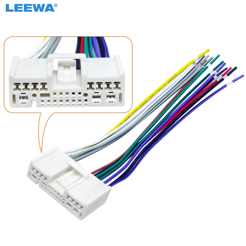 Leewa Pcs Car Cd Radio Audio Power Harness Cable Adapter For Mazda on Ford Stereo Wiring Harness Adapter