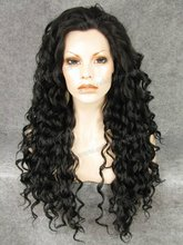 N18-2 Stunning Curly Synthetic Lace Front Wig Rupaul Wig