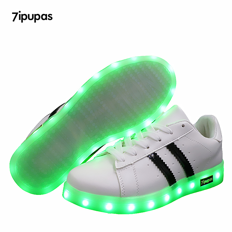 7ipupas Led Luminous Sneakers For Boy Girls Fashion Light Up Casual Kids 11 Colors Outdoor Simulation Sole Glowing Children Shoe