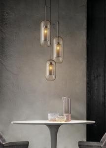 Image 5 - LukLoy Modern Pendant Light Nordic Pendant Lamp Retro Vintage Bedside Lamp Loft Kitchen Island Suspension Lighting Fixture