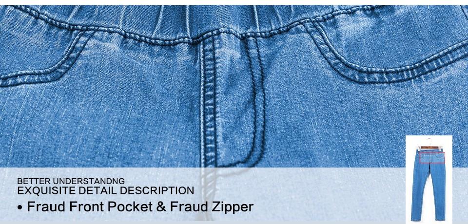 Women Plus Size Casual Slim Stretch Cotton Denim Jeans Blue black 46