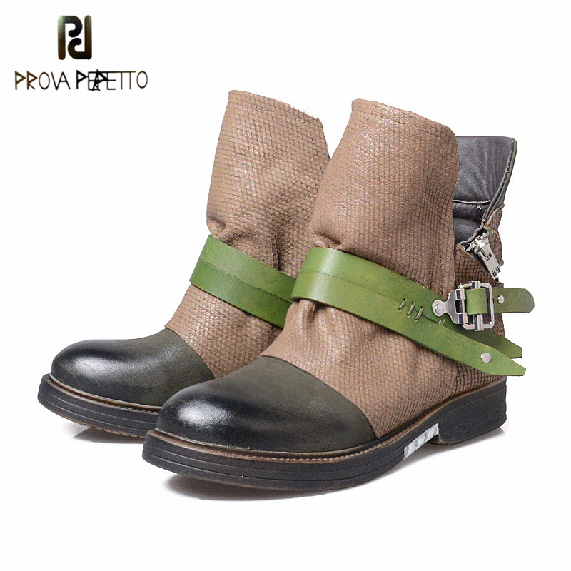 Prova Perfetto New Designer Outside Armor Retro Boots Real Leather Mixed Color Motorcycle Boots Handsome Zipper Knight BootProva Perfetto New Designer Outside Armor Retro Boots Real Leather Mixed Color Motorcycle Boots Handsome Zipper Knight Boot