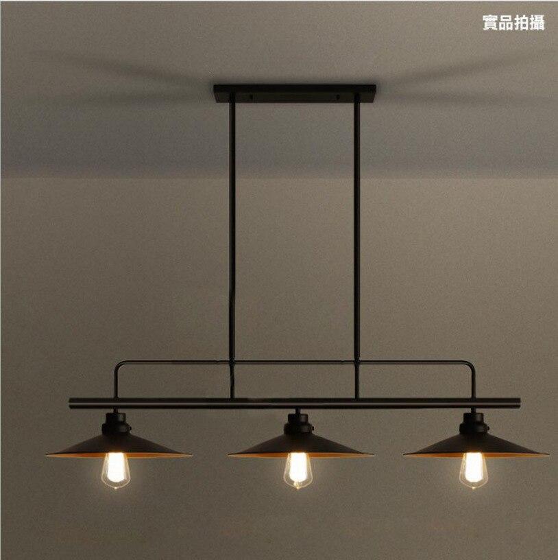 3 Heads Lightings Retro Iron Pulley Pendant Lights Loft American Vintage Industrial Antique Edison kitchen Pendant