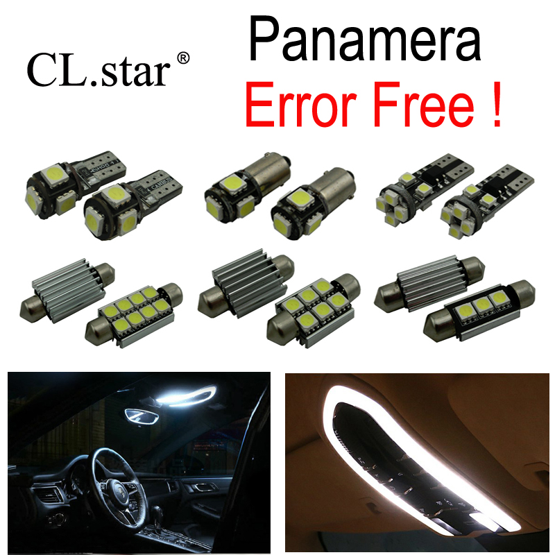 22pcs bulb LED Interior dome map lamp reading Light Kit For Porsche Panamera 4 S 4S Turbo Turbo S Diesel GTS S Hybrid (09-15) 27pcs led interior dome lamp full kit parking city bulb for mercedes benz cls w219 c219 cls280 cls300 cls350 cls550 cls55amg