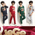 Cotton sweater suit pants long sleeved T-shirt boy children Childrens Boys autumn 2015 new Hoodie