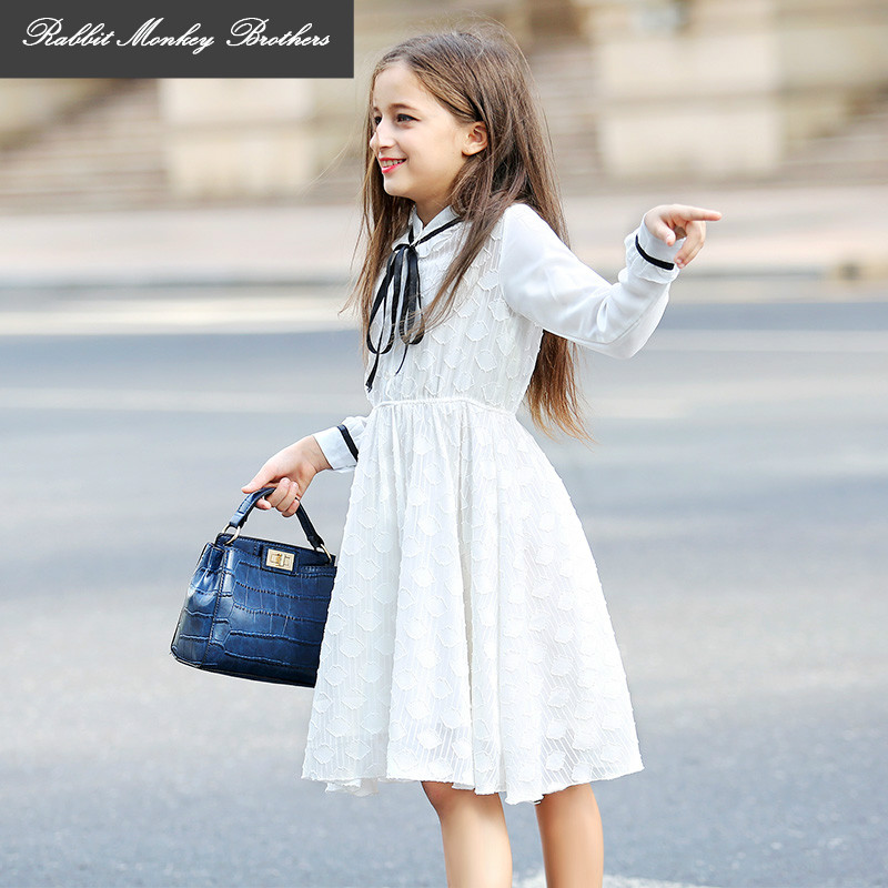 Girl Princess Dress New Girls lace tutu children clothing older girls long-sleeved dress for teen girl 5 9 10 14 15 years old hello bobo girls dress collection of sports in the new year is suitable for 2 to 6 years old children s clothing