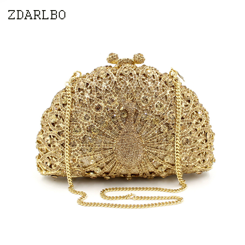 Vintage Peacock Diamond Shoulder Bags Women Luxury Crystal Handbag Metal Clutches Wedding Cocktail Party HandbagsVintage Peacock Diamond Shoulder Bags Women Luxury Crystal Handbag Metal Clutches Wedding Cocktail Party Handbags