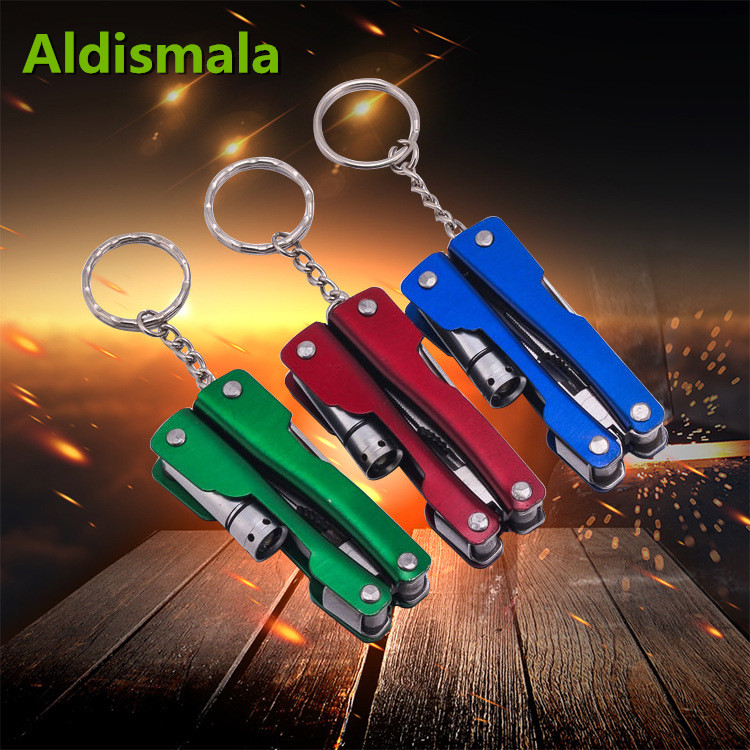Knives Intelligent Aldismala Multifunction Outdoor Camping Survival Edc Pockets Tool Led Light Compass Swiss Folding Knife Stainless Steel Pliers Tools