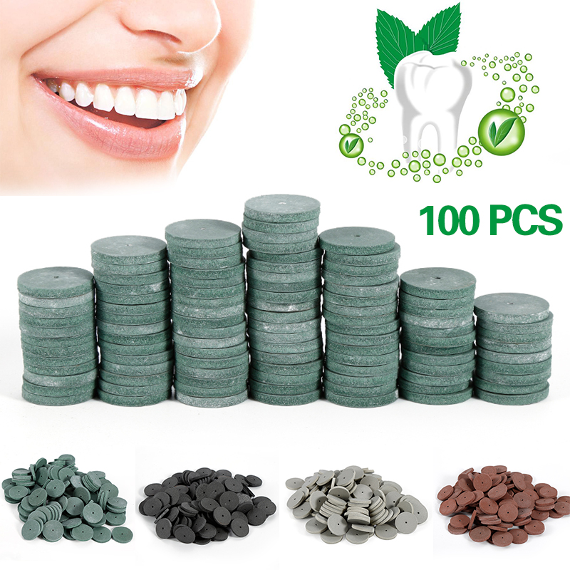 Y&W&F 100pcs 2.2cm Rubber Polishing Wheel Dental Lab Materials Silicone Professional Polishing Wheel Dental Dental Materials 100 pcs box dental lab materials rubber polishing granule green brown black grey
