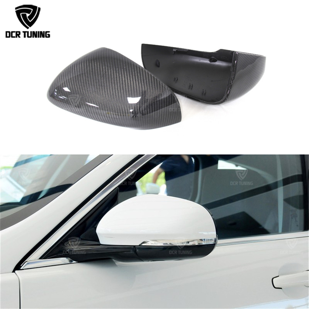 Carbon Fiber Rear Side View Mirror Cover For XK XF XJ XKR XE 2011 2012 2013 2014 - UP Replacement Style & Add On Style