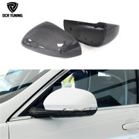 Carbon Fiber Rear Side View Mirror Cover For Jaguar XK XF XJ XKR XE 2011 2012 2013 2014 UP Replacement Style & Add On Style