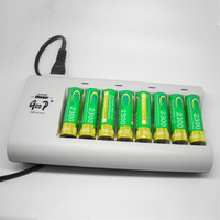 Universal Quick Charging AA AAA Standard Charger 8 Slots For NiMH /NiCD Battery+8*2300mah Rechargeable Batteries BTY Batteria