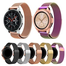 Samsung Galaxy Izle 46mm Milanese Döngü Kayışı Galaxy Watch 42mm Band Manyetik Toka Paslanmaz Çelik Metal izle Bilezik