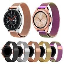 Voor Samsung Galaxy Horloge 46mm Milanese Loop Strap voor Galaxy Horloge 42mm Band Magnetische Sluiting Roestvrij Stalen Metalen horloge Armband